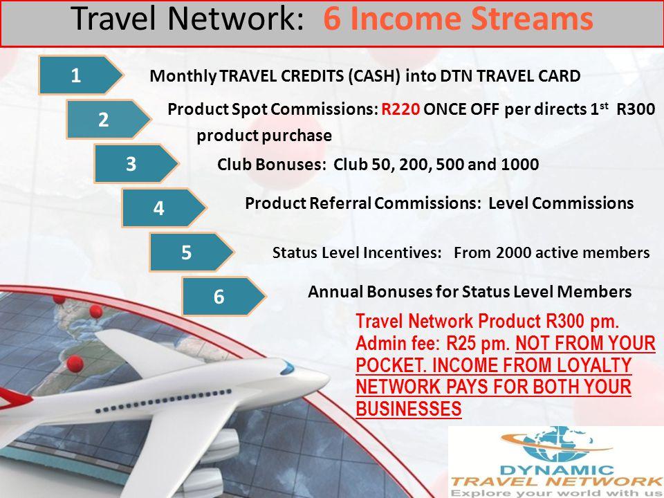 Travel Network: 6 Income Streams