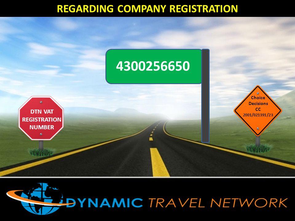 REGARDING COMPANY REGISTRATION