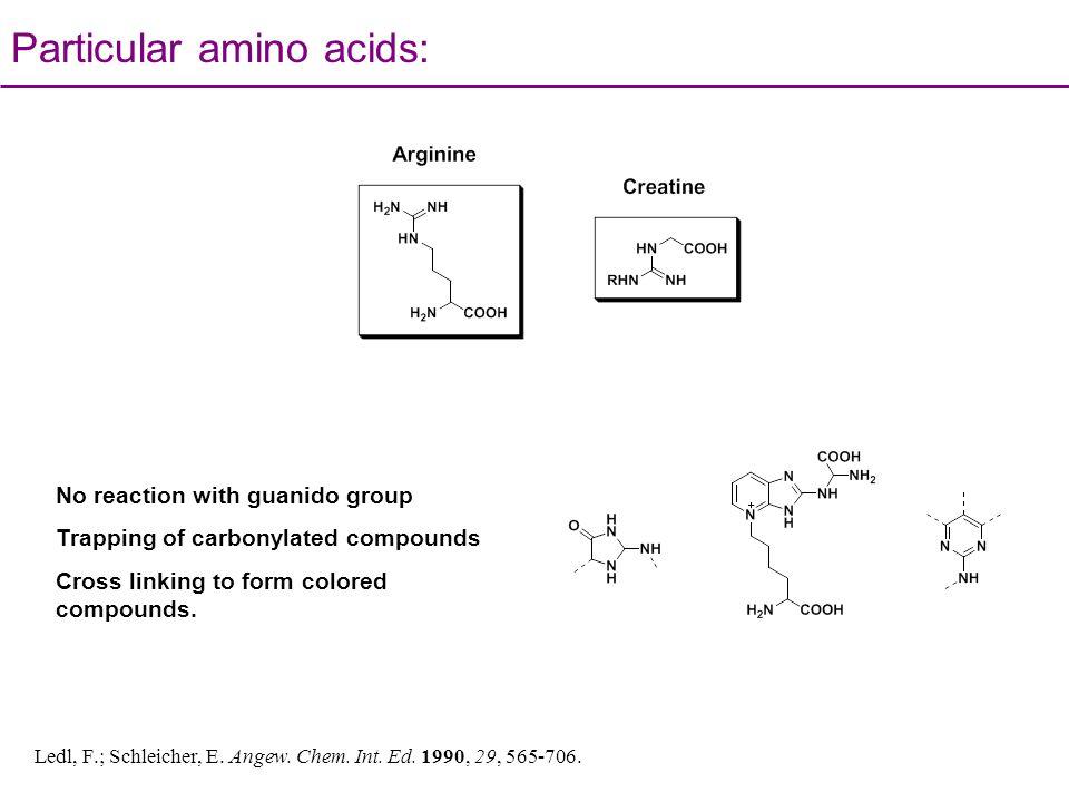 Particular amino acids: