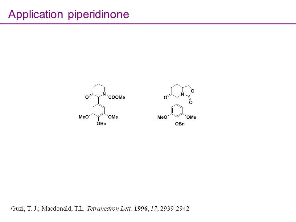 Application piperidinone