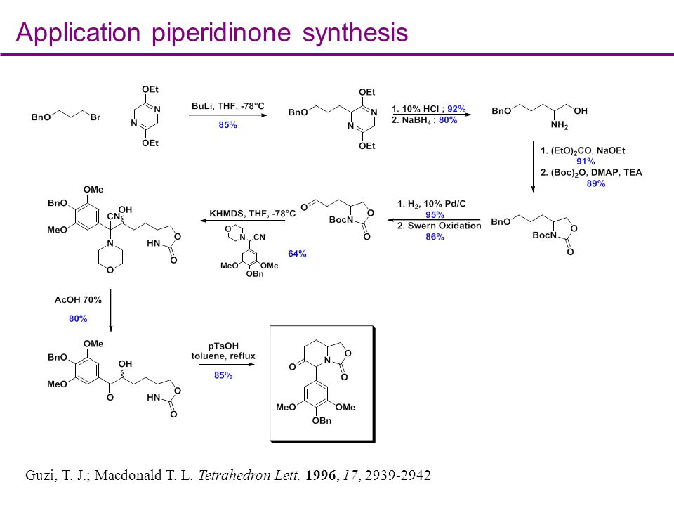 Application piperidinone synthesis