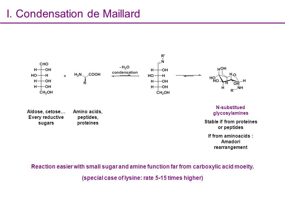 I. Condensation de Maillard