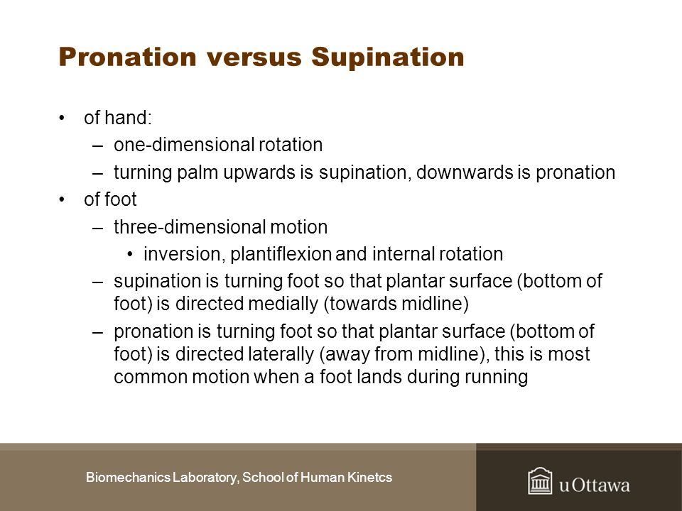 Pronation versus Supination