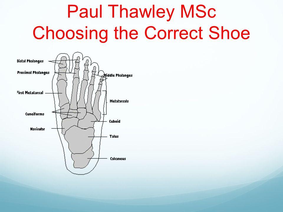 Paul Thawley MSc Choosing the Correct Shoe