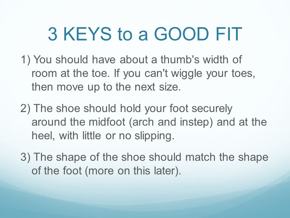 3 KEYS to a GOOD FIT