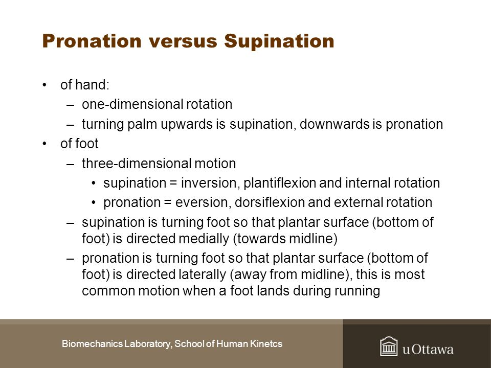 Pronation versus Supination