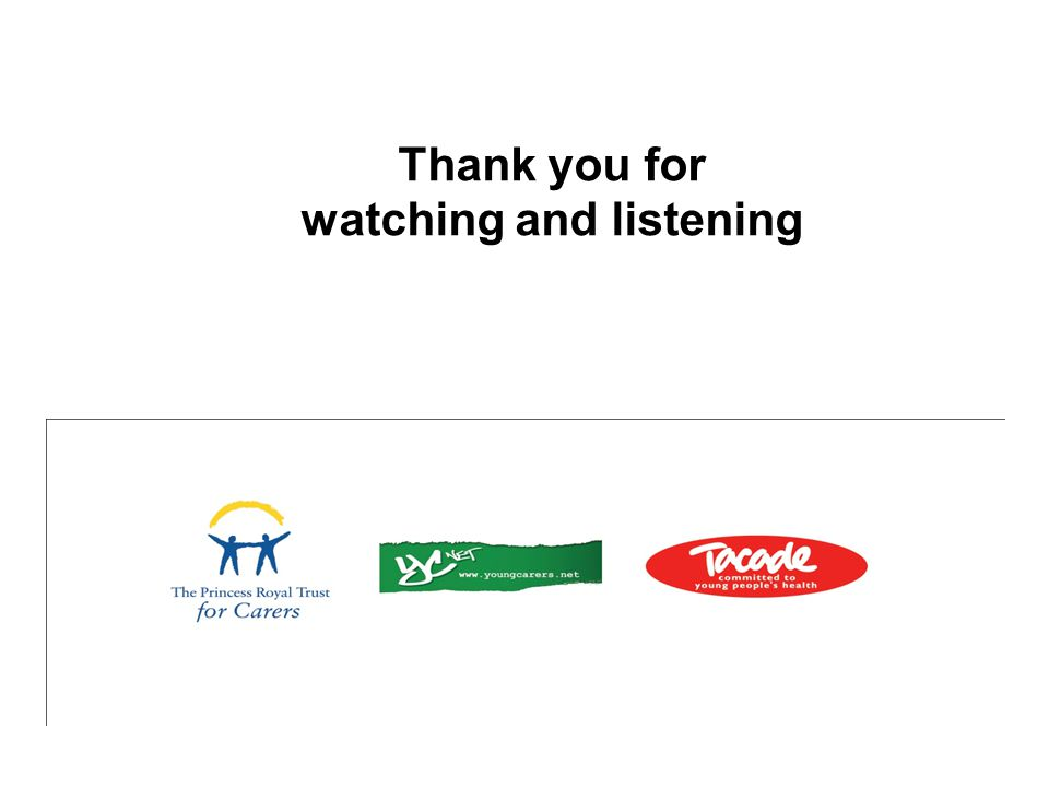 Thank you for watching and listening