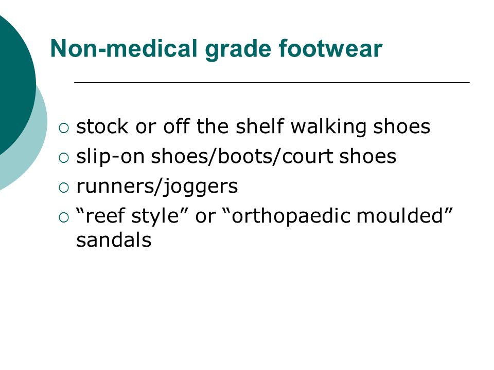 Non-medical grade footwear