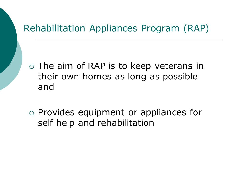Rehabilitation Appliances Program (RAP)