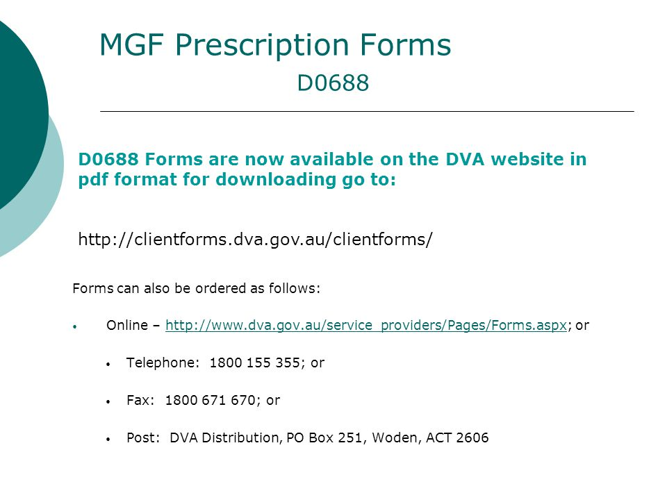 MGF Prescription Forms D0688