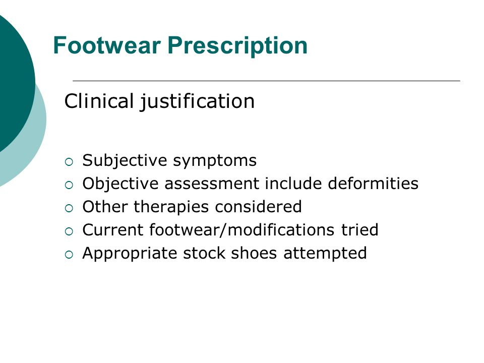 Footwear Prescription