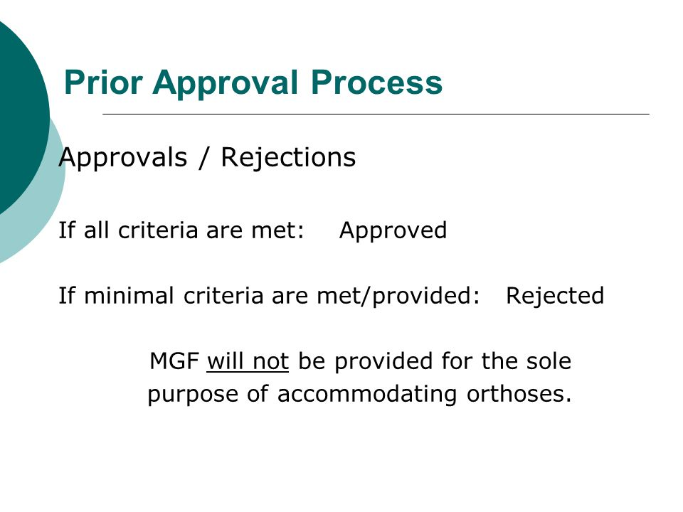 Prior Approval Process