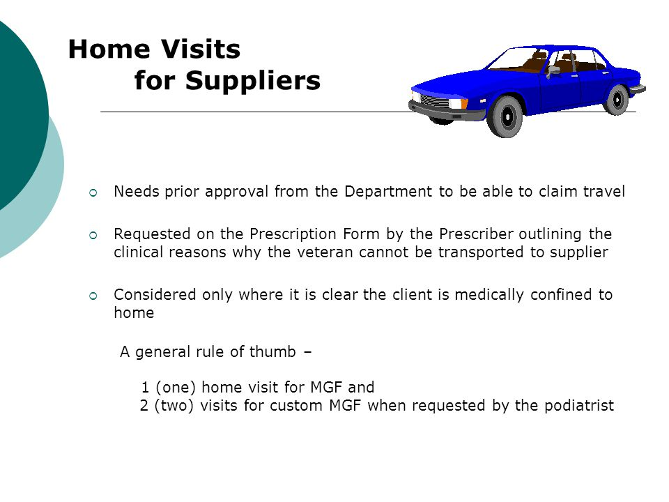Home Visits for Suppliers
