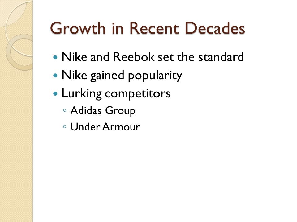 Growth in Recent Decades