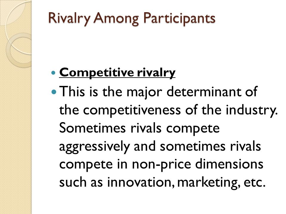 Rivalry Among Participants