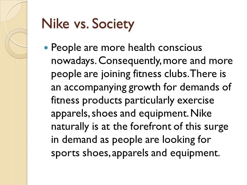 Nike vs. Society