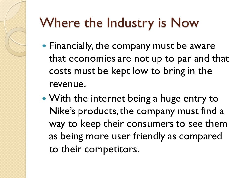 Where the Industry is Now