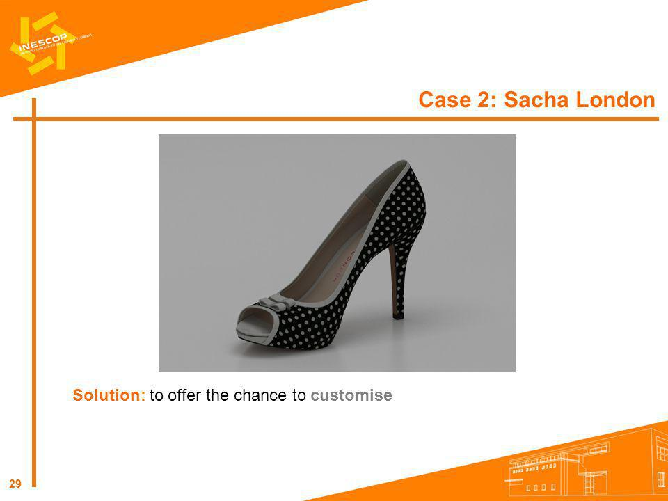 Case 2: Sacha London Solution: to offer the chance to customise