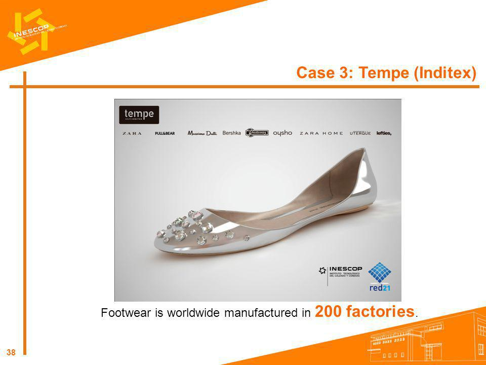 Footwear is worldwide manufactured in 200 factories.