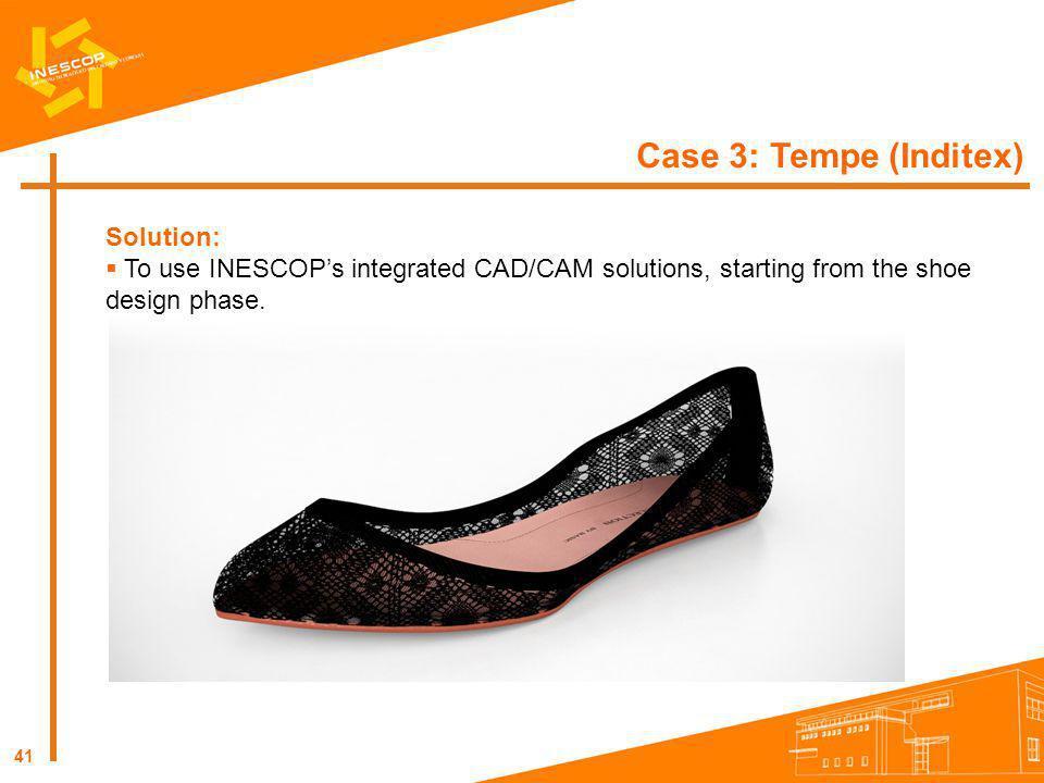 Case 3: Tempe (Inditex) Solution: