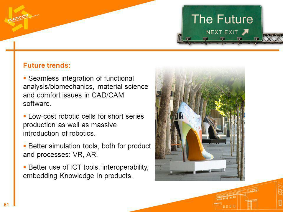Future trends: Seamless integration of functional analysis/biomechanics, material science and comfort issues in CAD/CAM software.