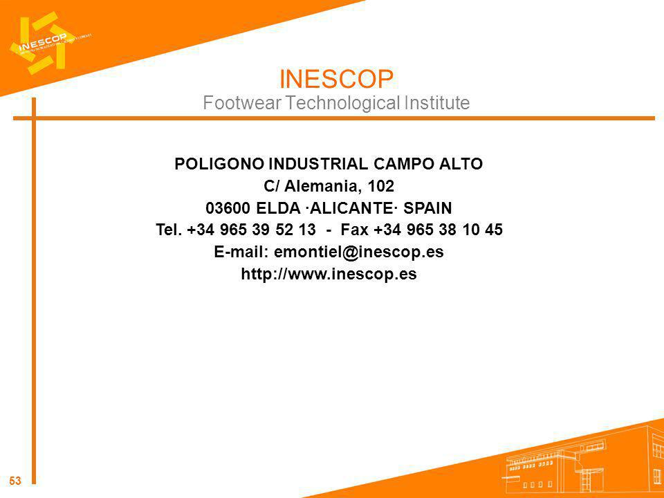 POLIGONO INDUSTRIAL CAMPO ALTO E-mail: emontiel@inescop.es