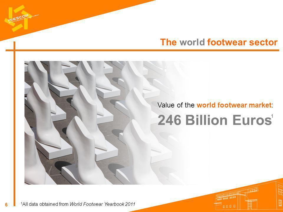 246 Billion Euros The world footwear sector