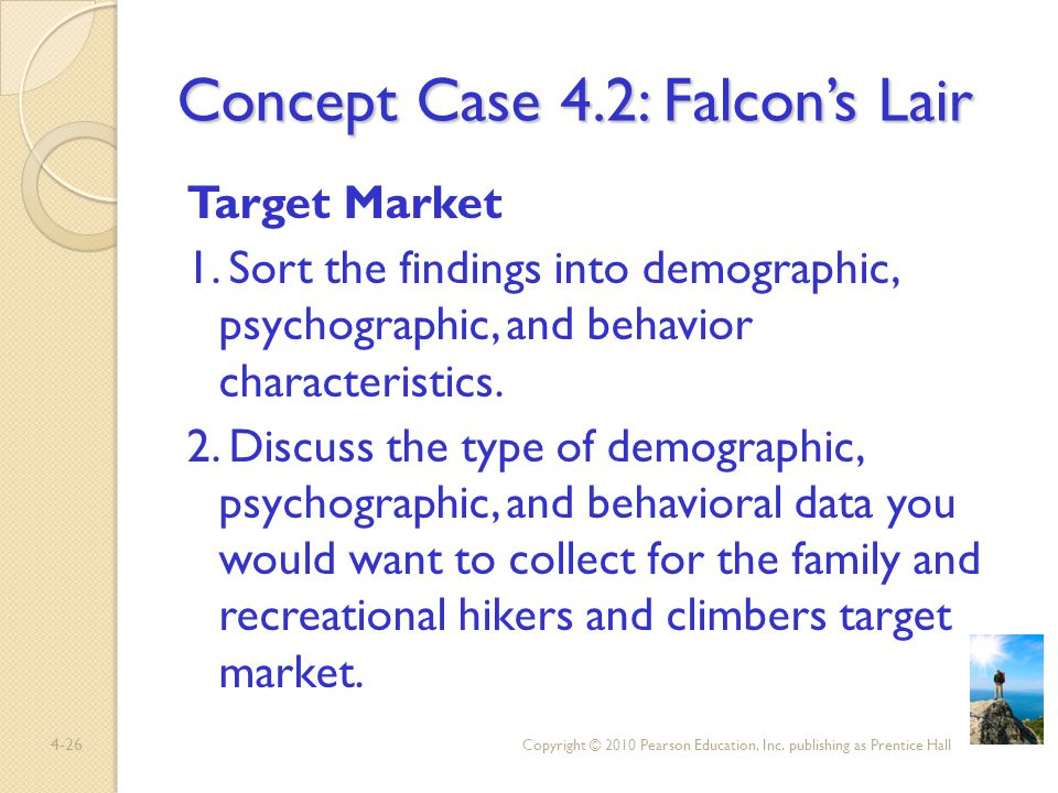 Concept Case 4.2: Falcon's Lair