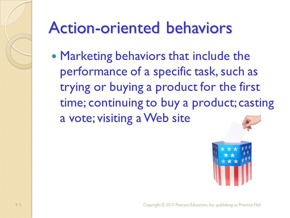Action-oriented behaviors