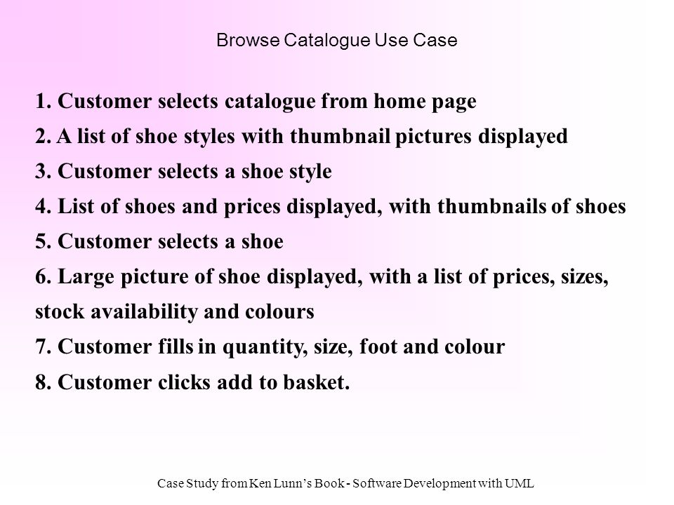 Browse Catalogue Use Case