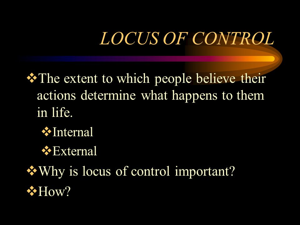 To what extent can control of