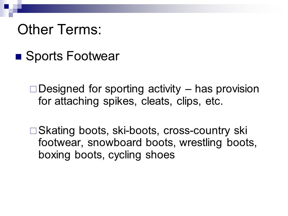 Other Terms: Sports Footwear