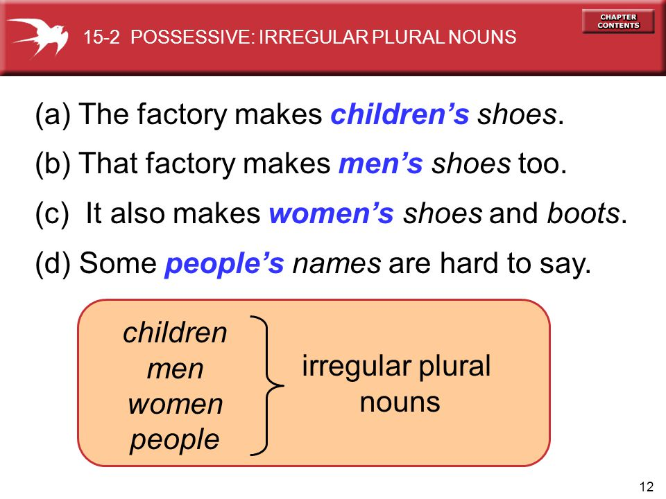 (a) The factory makes children's shoes.