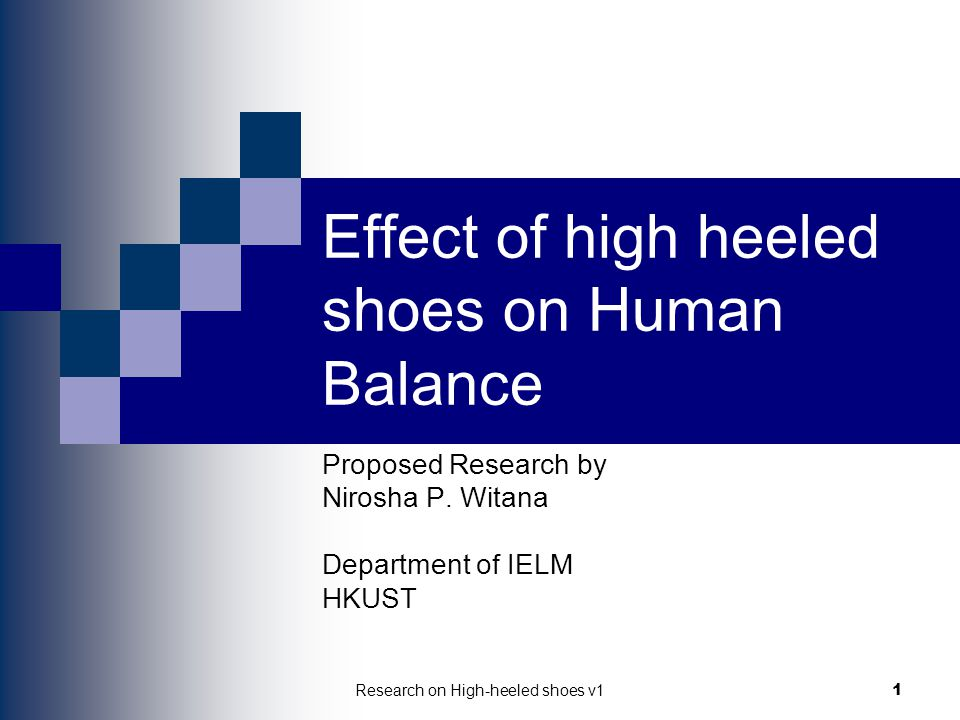 Effect of high heeled shoes on Human Balance