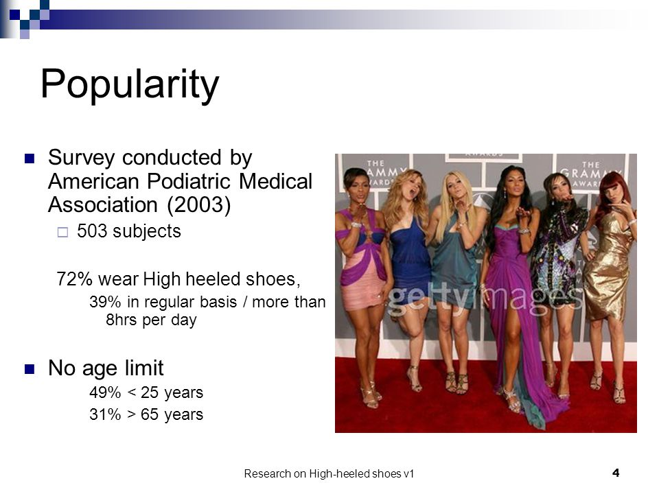 Research on High-heeled shoes v1