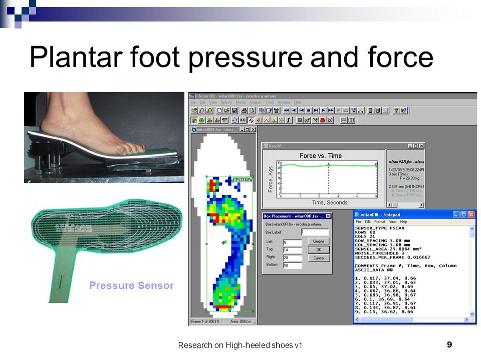 Plantar foot pressure and force