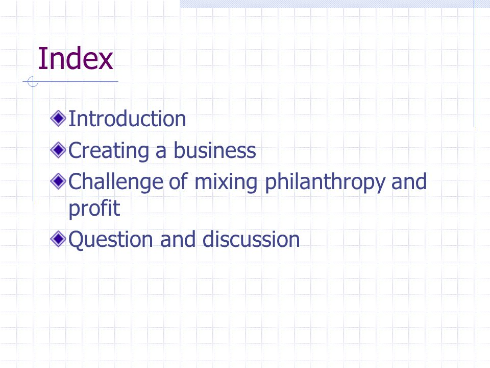 Index Introduction Creating a business