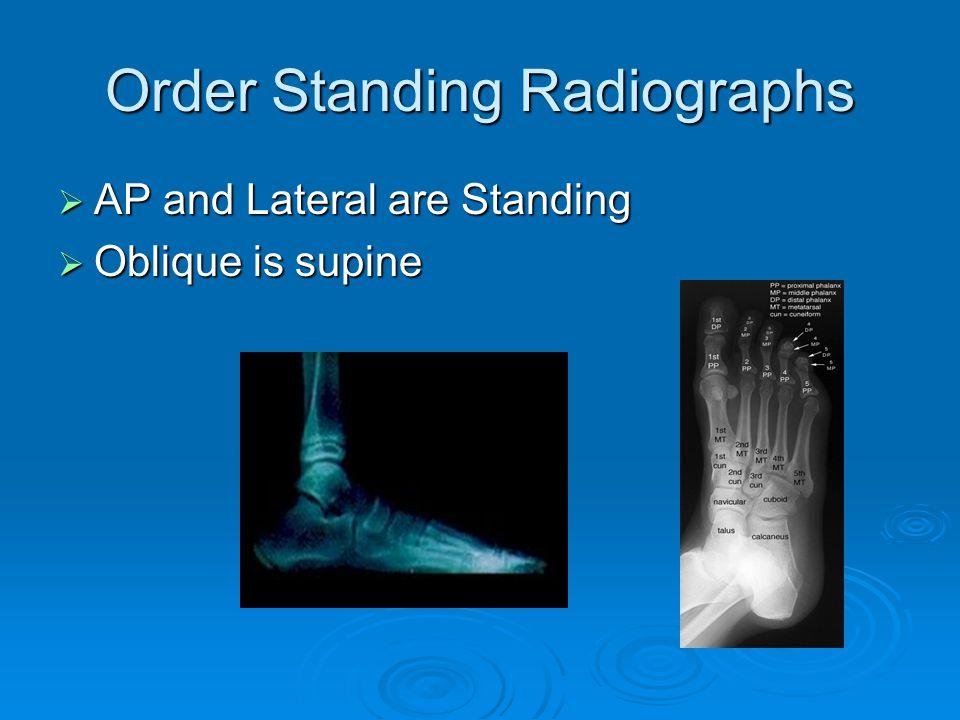 Order Standing Radiographs