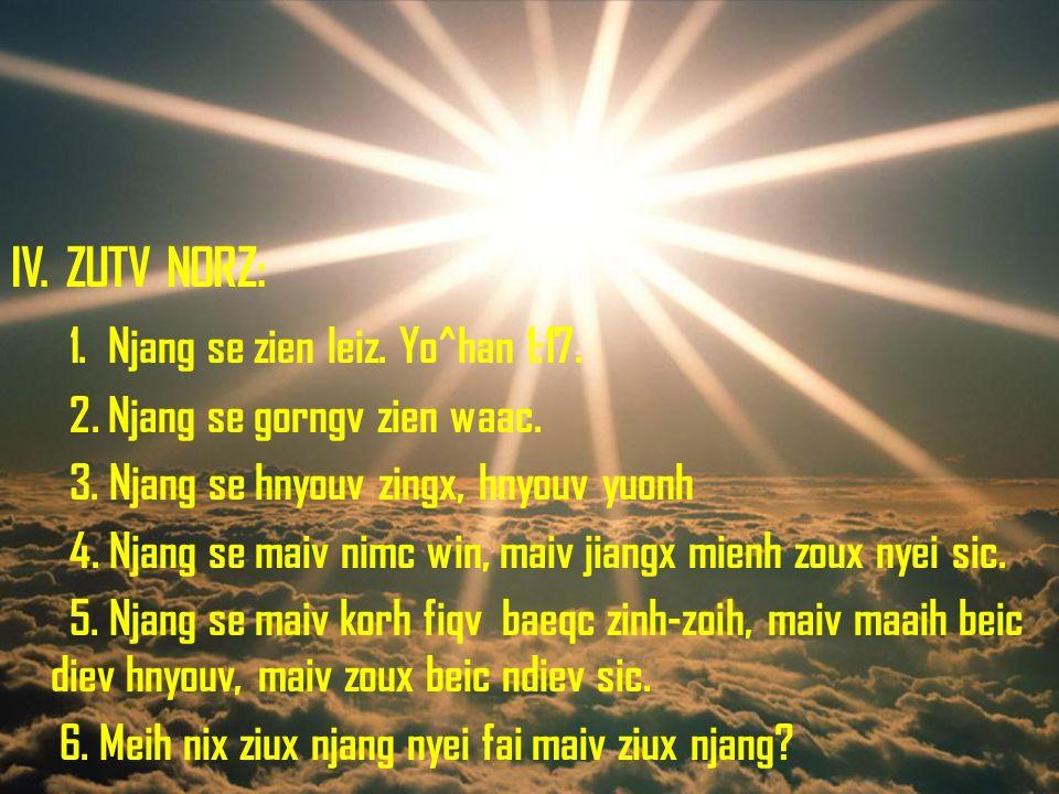 1. Njang se zien leiz. Yo^han 1:17.