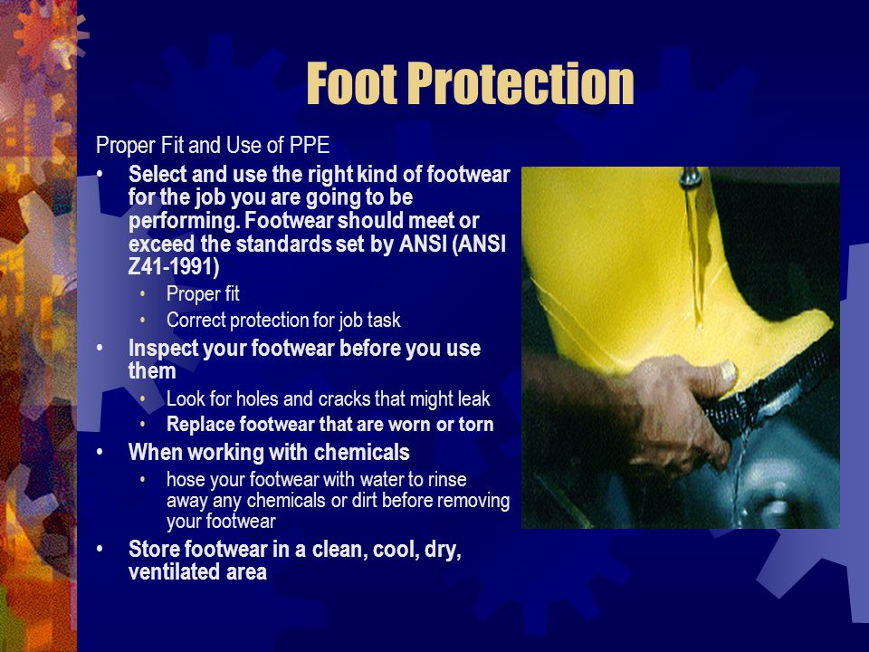 Foot Protection Proper Fit and Use of PPE