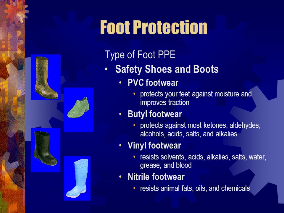 Foot Protection Type of Foot PPE Safety Shoes and Boots PVC footwear