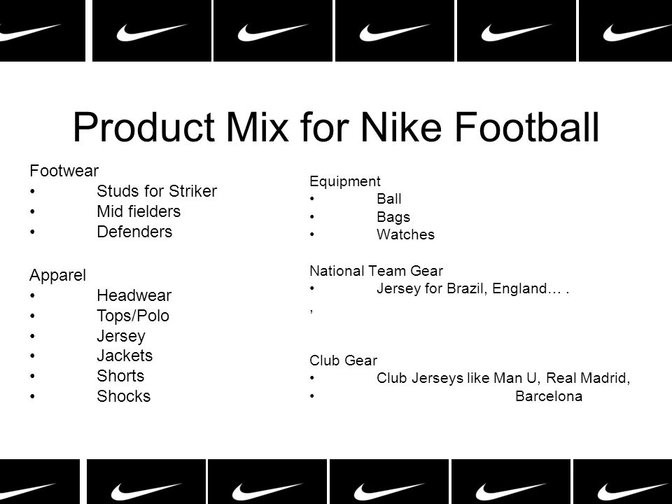 Product Mix for Nike Football