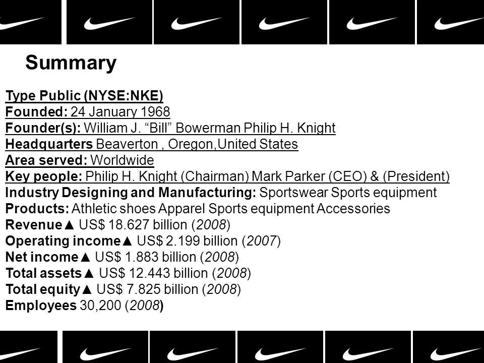 Summary Type Public (NYSE:NKE)