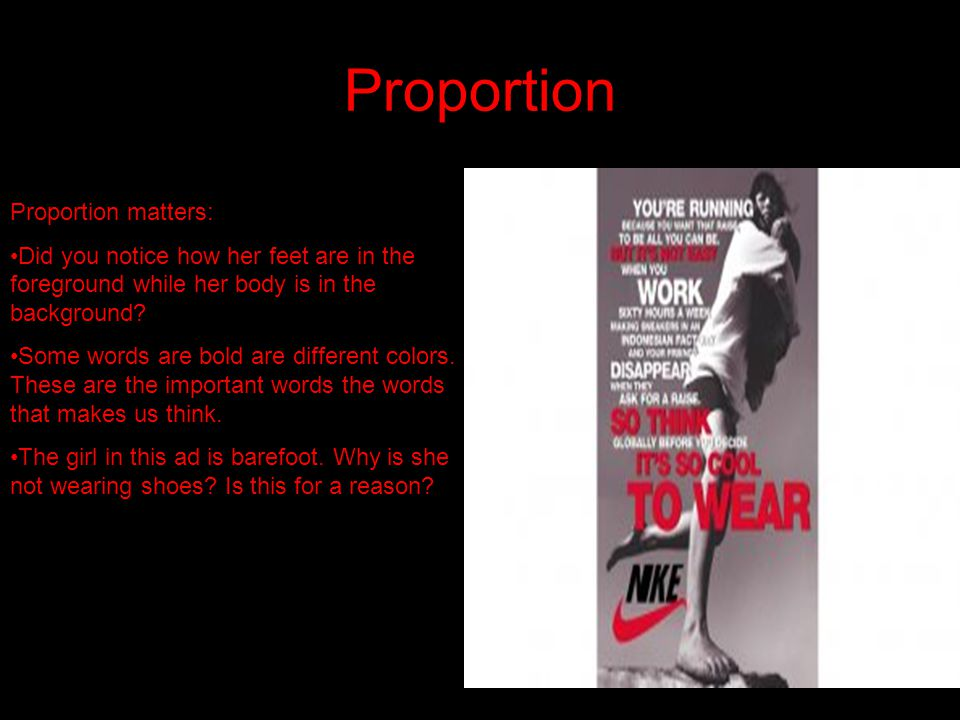 Proportion Proportion matters: