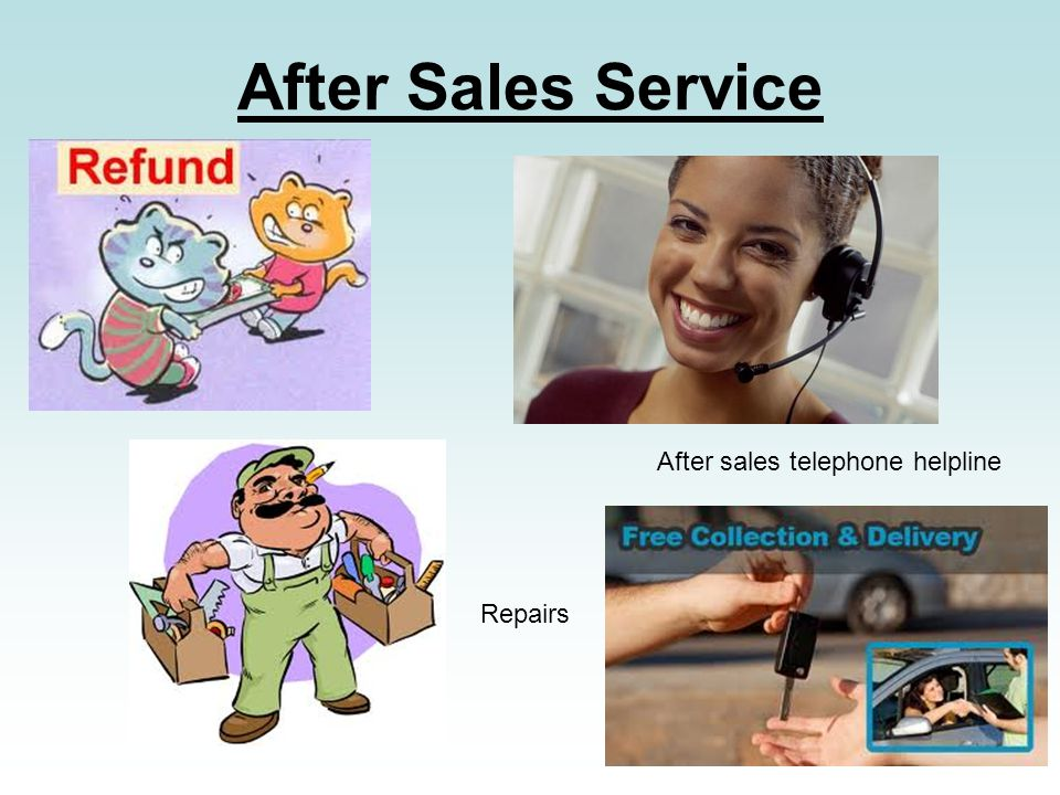 After Sales Service After sales telephone helpline Repairs
