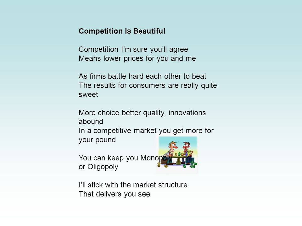 Competition Is Beautiful