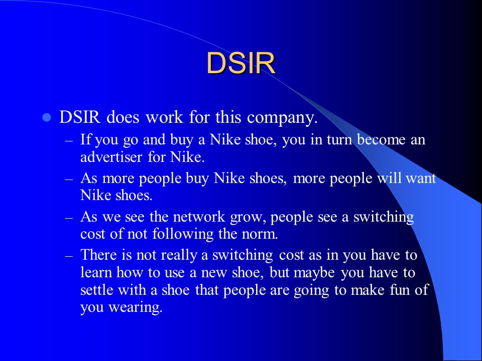 DSIR DSIR does work for this company.