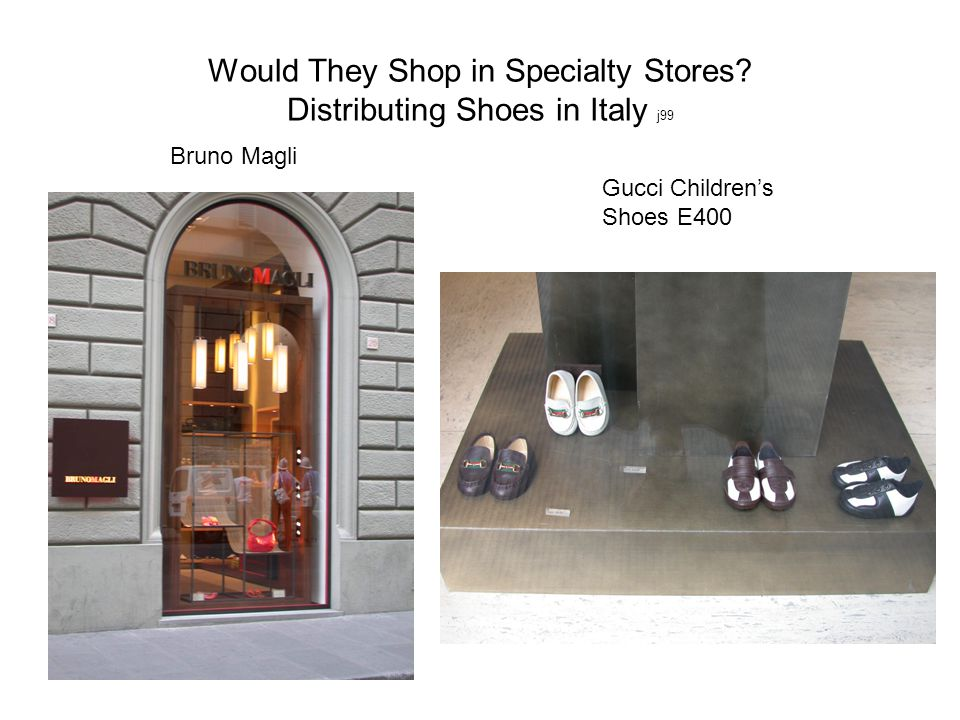 Would They Shop in Specialty Stores Distributing Shoes in Italy j99