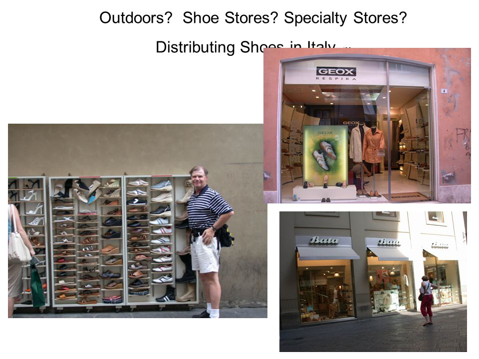 Outdoors. Shoe Stores. Specialty Stores