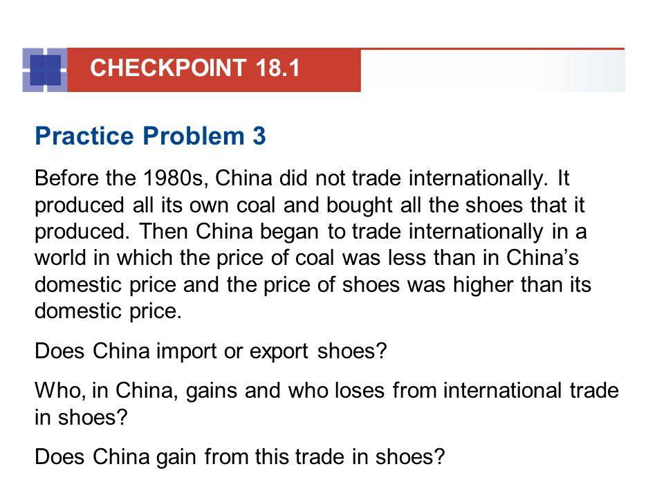 Practice Problem 3 CHECKPOINT 18.1